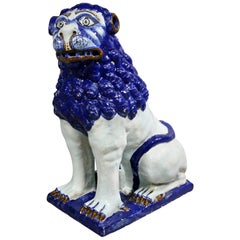 French Faience Figure of a Lion