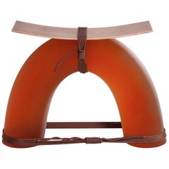 Equilibrium Stool in Copper by Guglielmo Poletti