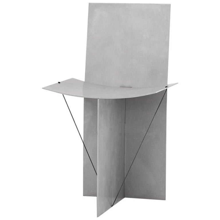 Equilibrium Chair in Aluminum and Stainless Steel by Guglielmo Poletti For Sale