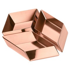 Ghidini 1961 Axonometry Small Cube Tray in Copper by Elisa Giovanni