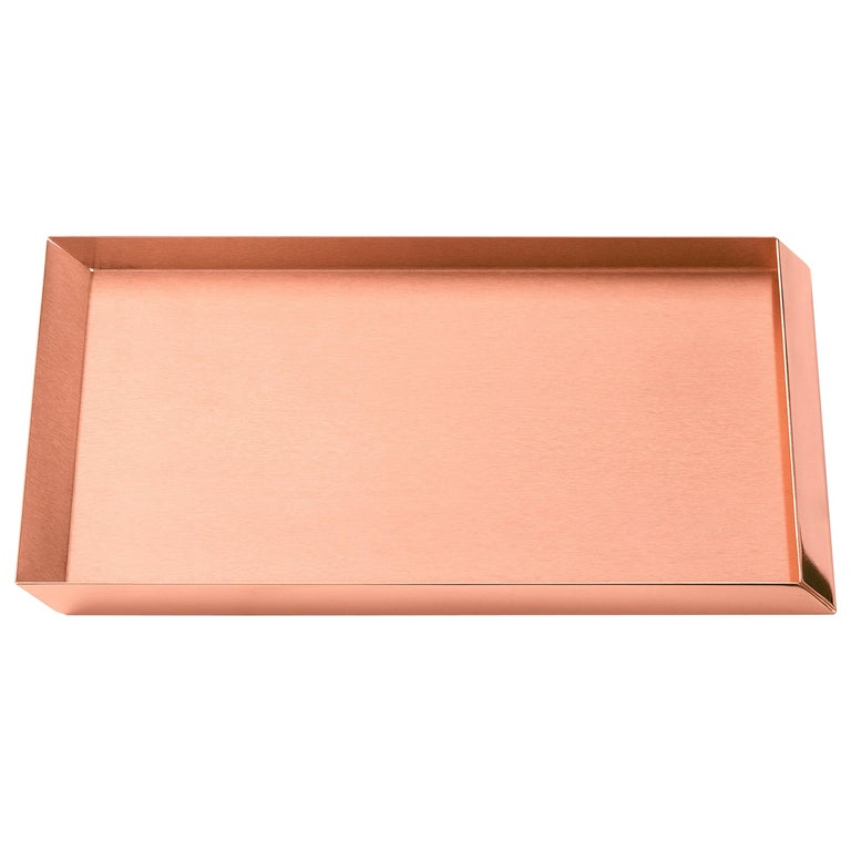 Ghidini 1961 Axonometry A4 Tray in Copper by Elisa Giovanni For Sale