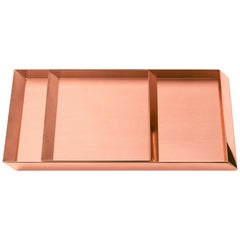Set of 2 Ghidini 1961 Axonometry Trays in Copper by Elisa Giovanni