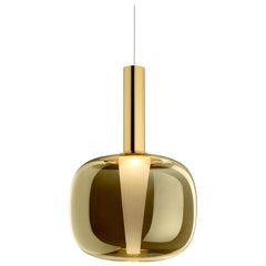 Ghidini 1961 Dusk Dawn Pendant in Brass and Metallic Glass by Branch Creative