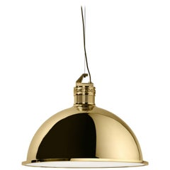 Ghidini 1961 Factory Medium Suspension Light in Brass by Elisa Giovanni