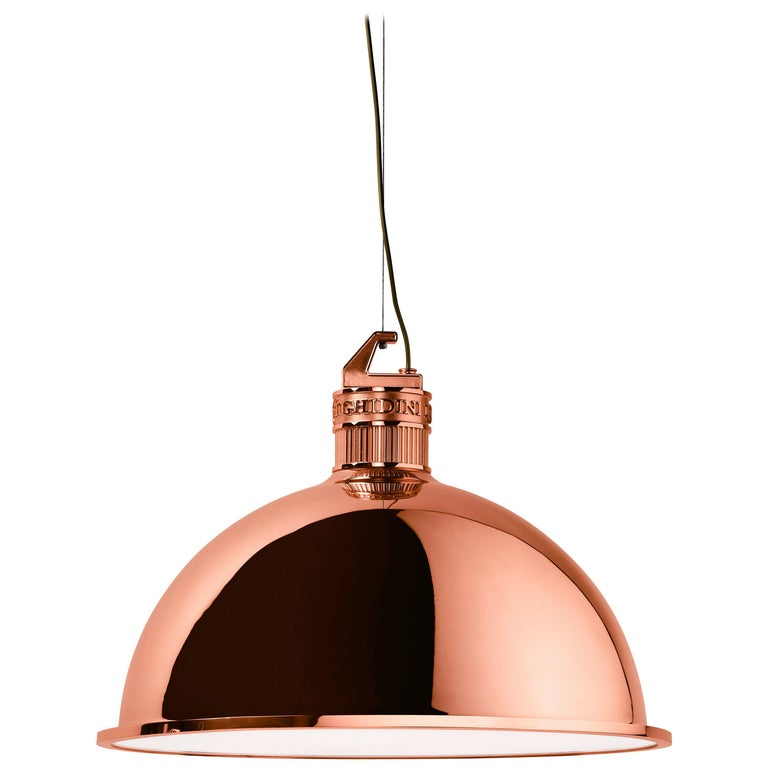 Ghidini 1961 Factory Medium Suspension Light in Copper by Elisa Giovanni For Sale