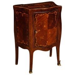 20th Century Inlaid Rosewood, Walnut, Maple, Palisander Italian Side Table, 1950