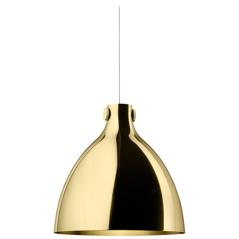 Ghidini 1961 Indi Round Pendant in Brass by Richard Hutten For Sale