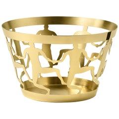 Ghidini 1961 Cestino 1 Medium Bowl in Polished Brass by Andrea Branzi