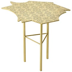 Ghidini 1961 Le Ninfee Left Side Table in Brass by Alessandro Mendini