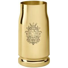 Ghidini 1961 Nowhere Bullet Vase in Brass by Studio Job