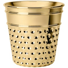 Ghidini 1961 Thimble Ice Bucket in Brass by Studio Job