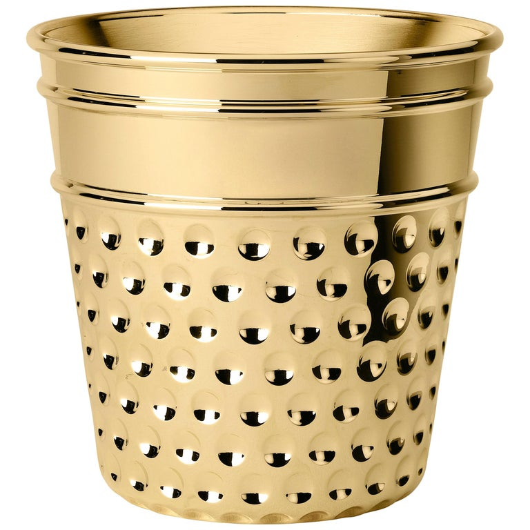 Ghidini 1961 Thimble Ice Bucket in Brass by Studio Job For Sale