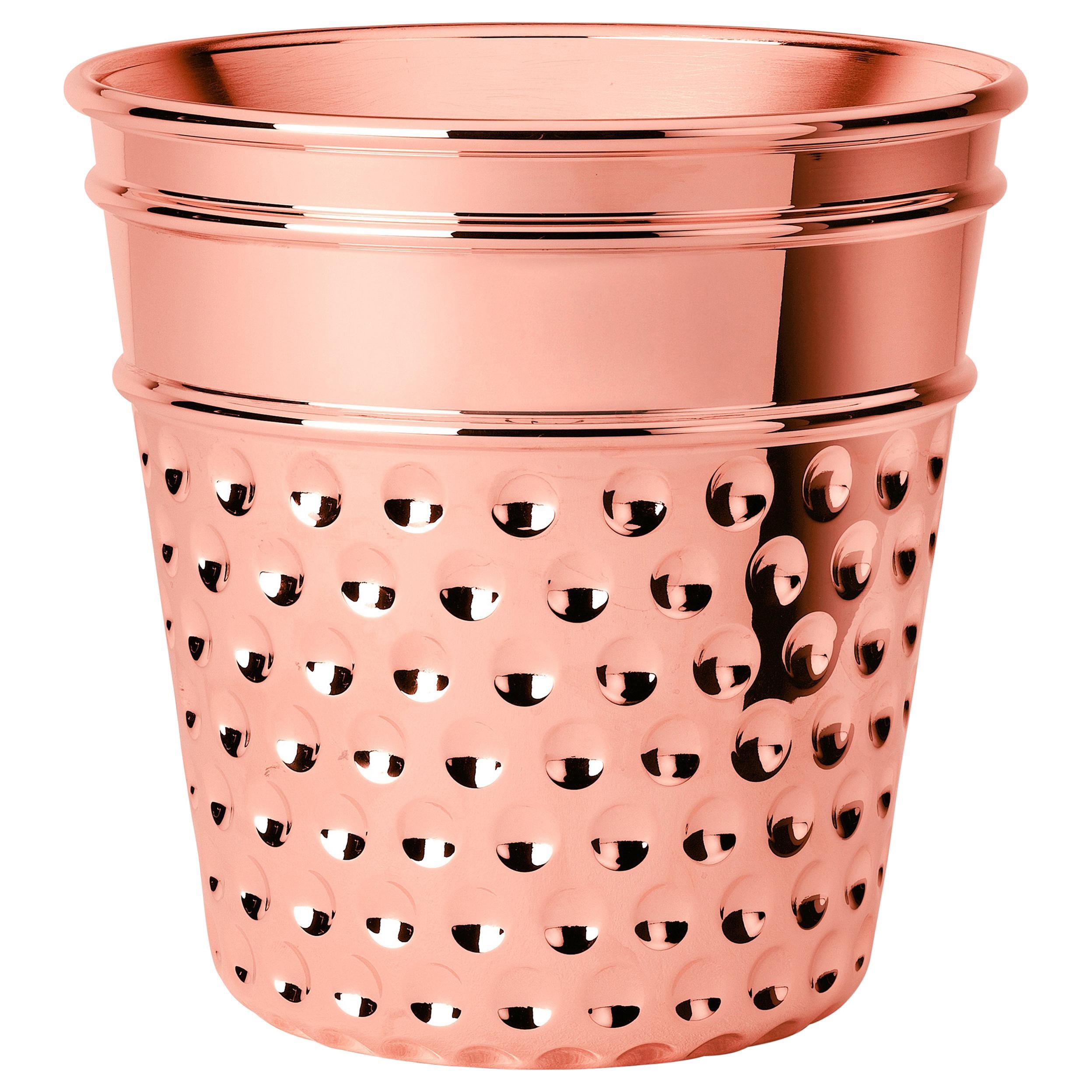 Ghidini 1961 Thimble Ice Bucket in Copper by Studio Job