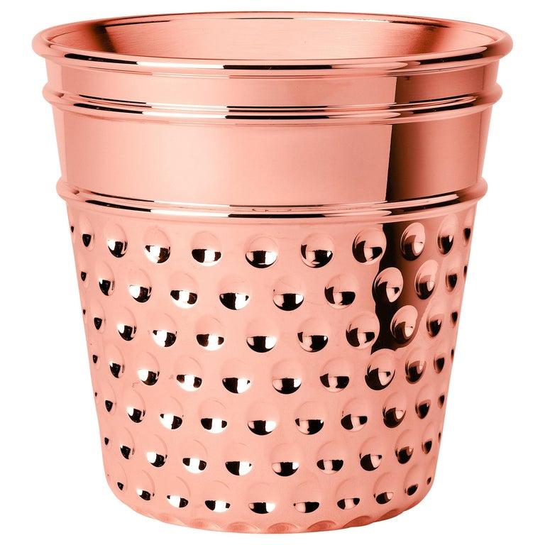 Ghidini 1961 Thimble Ice Bucket in Copper by Studio Job For Sale