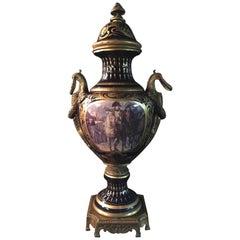 20. Jahrhundert Napoleon Bonaparte Sèvre Pompe Vase mit Deckel