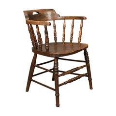 Victorian Antique Bow-Back Chair, English Elm Windsor, circa 1870