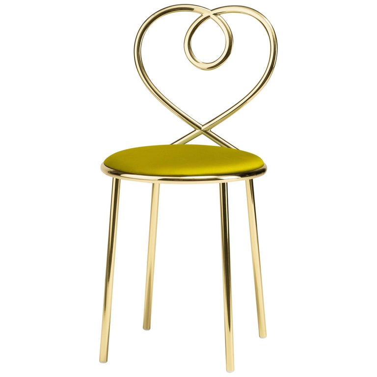 Ghidini 1961 Love Chair Anis in Polished Brass by Nika Zupanc For Sale