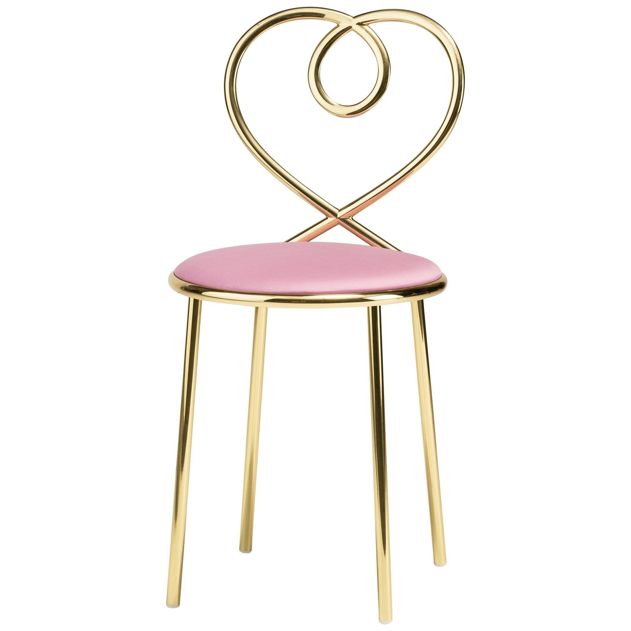 Ghidini 1961 Love Chair Ninfea in Polished Brass by Nika Zupanc