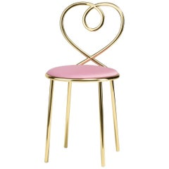 Ghidini 1961 Love Chair Ninfea in Polished Brass by Nika Zupanc