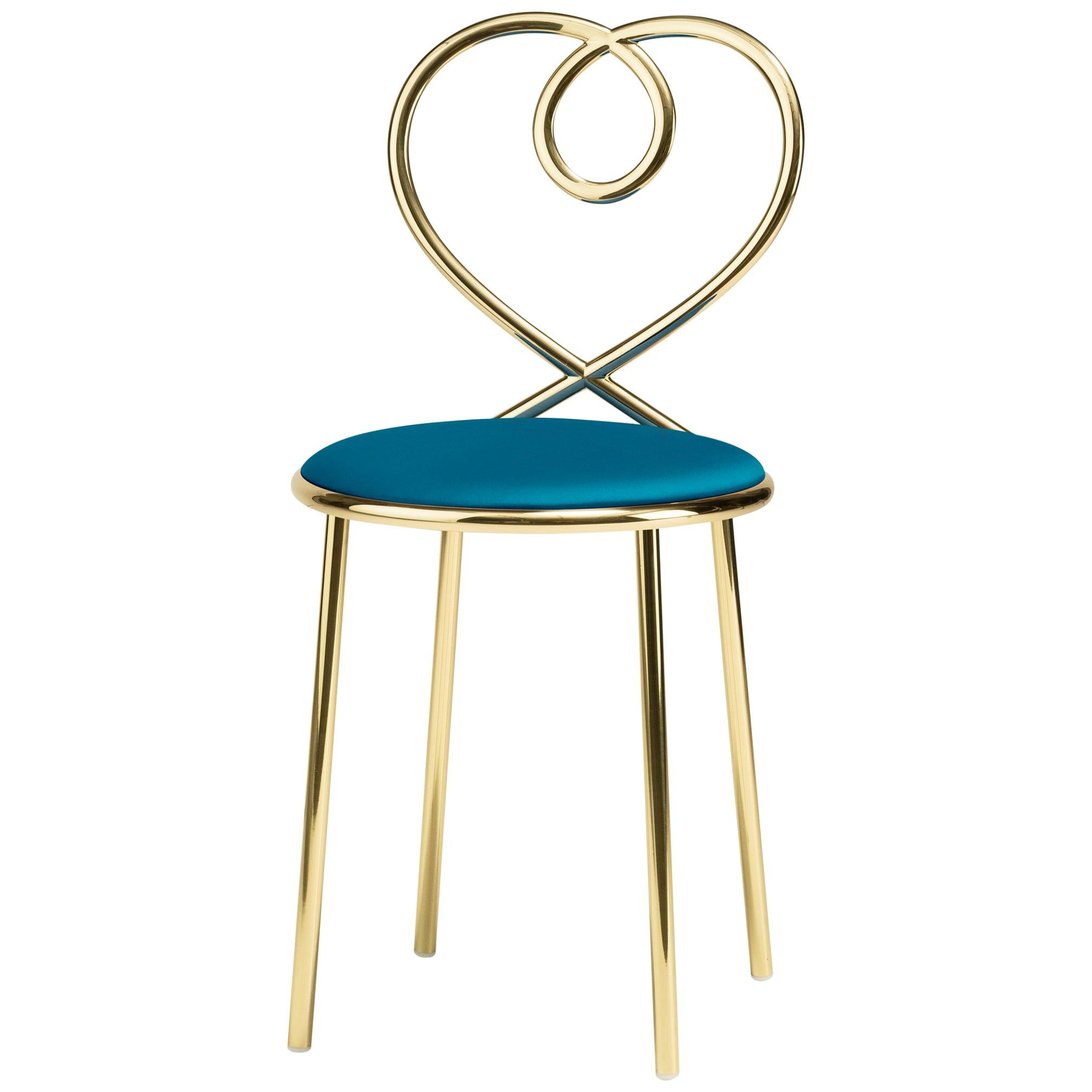 Ghidini 1961 Love Chair Ottanio in Polished Brass by Nika Zupanc