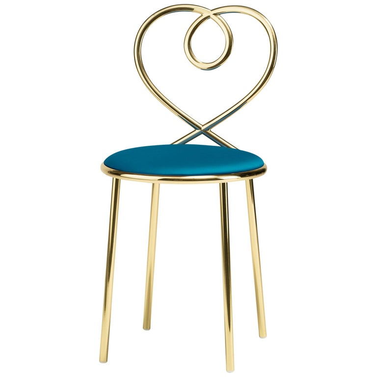 Ghidini 1961 Love Chair Ottanio in Polished Brass by Nika Zupanc For Sale