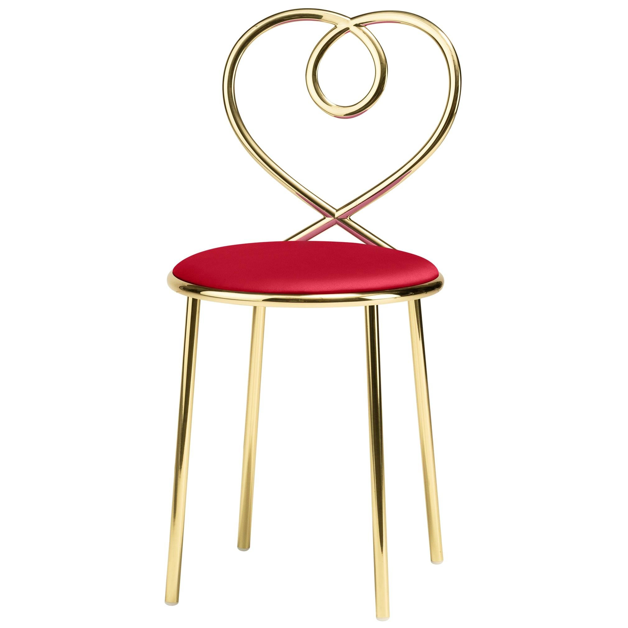 Ghidini 1961 Love Chair Rubis in Polished Brass by Nika Zupanc