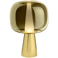 Ghidini 1961 Dusk Dawn Table Lamp in Brass and Metallic Glass by Branch