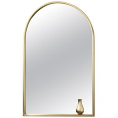 Ghidini 1961 Mirror with Little Vase in Brass by Elisa Giovanni