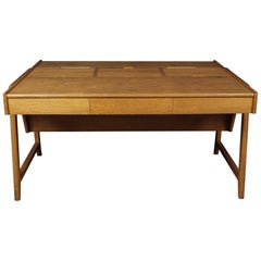 Midcentury Oak Desk Designed by Clausen and Maerus, Netherlands, 1960s