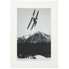 Alpine Ski Photograph, 'The Race' Taken from Original 1930s Photograph