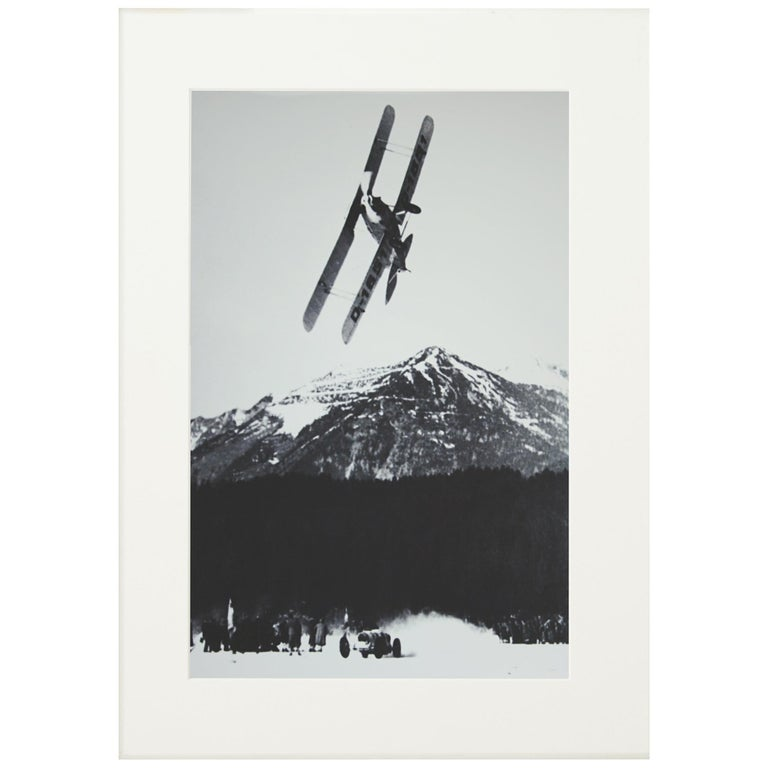 Alpine Ski Photograph, 'The Race' Taken from Original 1930s Photograph For Sale