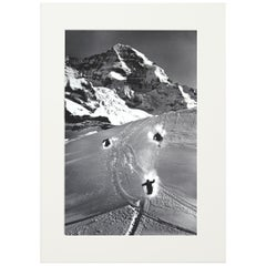 Alpine Ski Photograph, 'SCHEIDEGG' Taken from Original 1930s Photograph