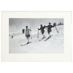 Alpine Ski Photograph, 'St. Moritz' Taken from Original 1930s Photograph