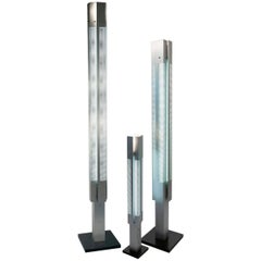 "Set of Serge Mouille Floor Lamp, Colonne Lumineuse ""Signal"""