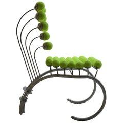 1980er Jahren maßgeschneiderte skulpturale Tennis Ball Stuhl Wimbledon Stuhl