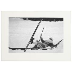 Alpine Ski Photograph, 'OPPS! Taken from Original 1930s Photograph