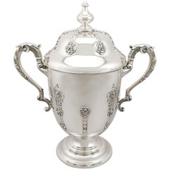 Antique George V Sterling Silver Presentation Cup and Cover, 1910
