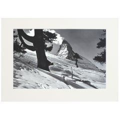 Alpine Ski Photograph, 'Matterhorn' Taken from Original 1930s Photograph