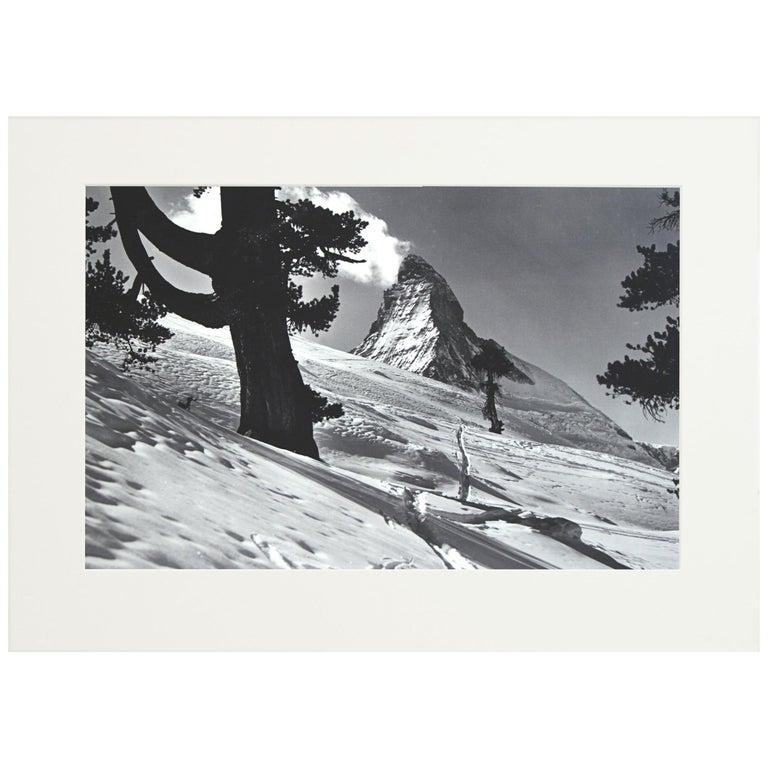 Alpine Ski Photograph, 'Matterhorn' Taken from Original 1930s Photograph For Sale