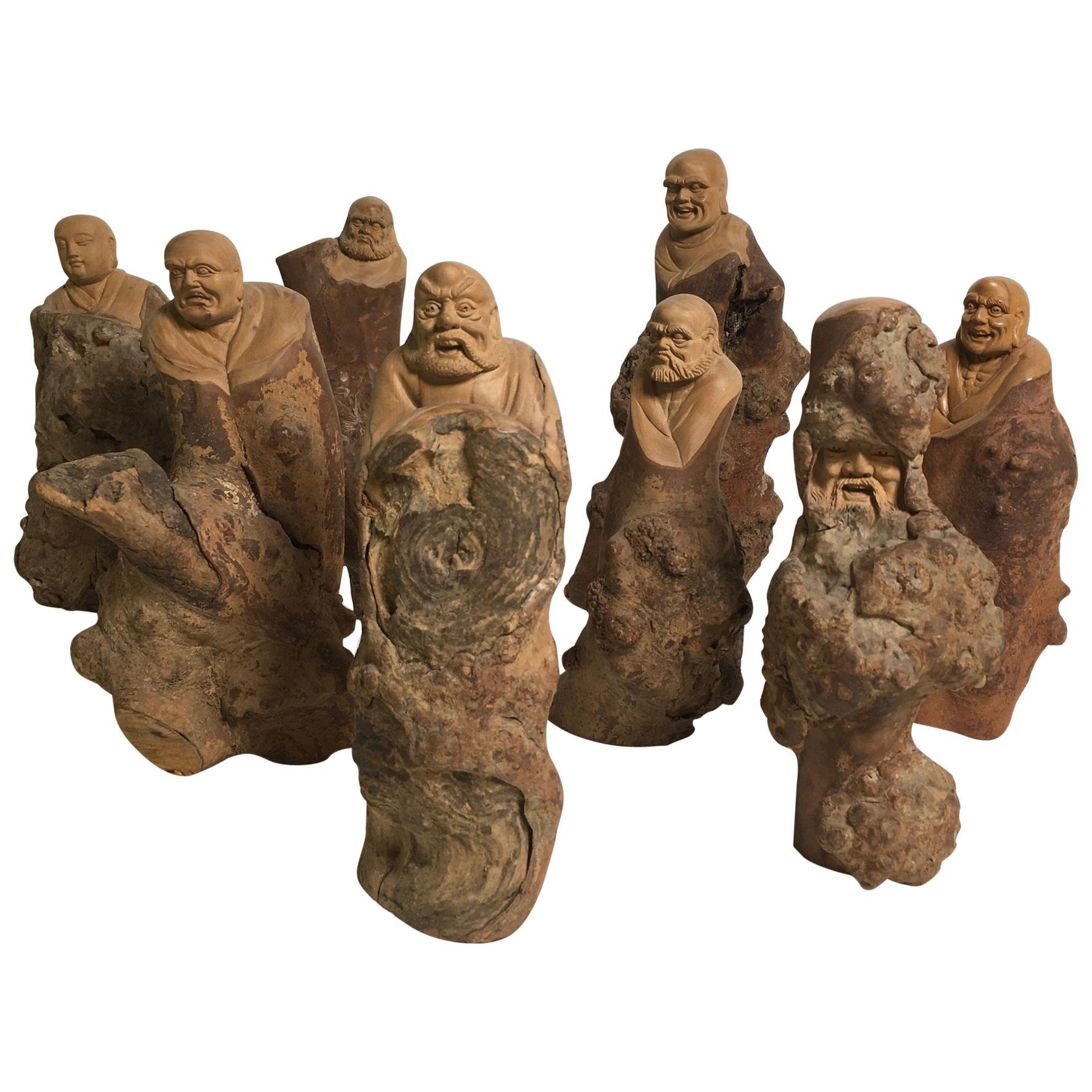 Beautiful Carved Vine Wood Sculptures