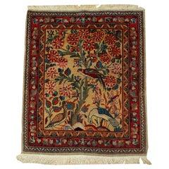 Handmade Antique Dabir Kashan Style Rug, 1890, 1B484