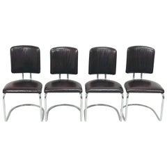 Chrome Chairs by Prof. F. A. Breuhaus, Model ST 17, 1934