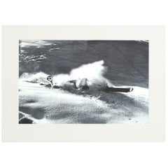 Vintage, Antique Alpine Ski Photograph, 'NOSE DIVE'