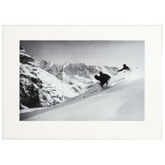 Alpine Ski Photograph, 'SCHUSS'