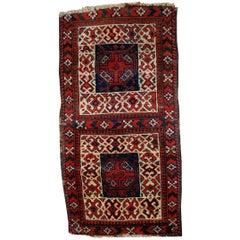 Handmade Antique Afghan Baluch Double Bag Face, 1880s, 1B486