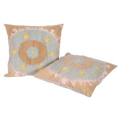 Pillow Cases Fashioned from an Mid-20th Century Uzbek Samarkand Suzani