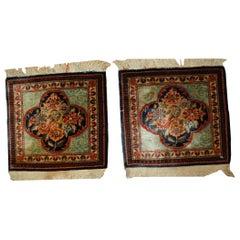 Handmade Antique Pair of Dabir Kashan Style Rugs, 1B488