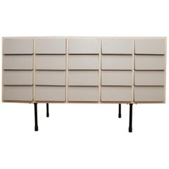 Midcentury Lacquered 20 Drawers Furniture Island, 1950s