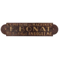Early 20th Century Painted Wooden French Trade Sign
