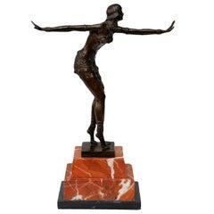 Contemporary Art Deco Style Bronze of a Dancer